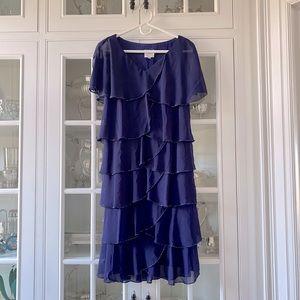 Patra Dress Blue Size 10